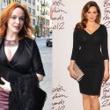 Aktor Christina Hendricks, modelis Kelly Brook