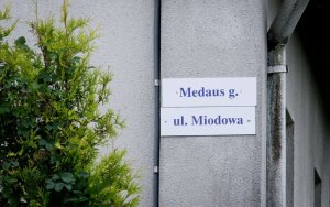 Picture: Only a Polish street name plate on Vilnius district municipality employee's house