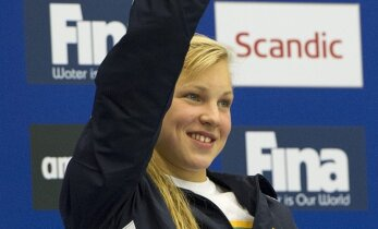 Picture: Lithuanian swimmer Rūta Meilutytė wins two gold medals